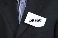 O Iso 9001 text o conceito Fotografia de Stock Royalty Free