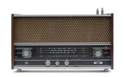o isolado do rádio do vintage está no fundo branco Fotografia de Stock Royalty Free