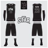 O jérsei do basquetebol, short, golpeia o molde para o clube do basquetebol Imagem de Stock Royalty Free