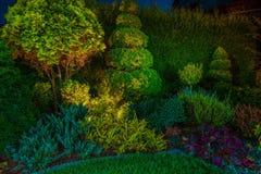 O jardim conduziu a iluminação da iluminação foto de stock