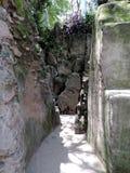 O jardim de rocha de Chandigarh, Índia Fotografia de Stock Royalty Free