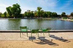 O jardim de Tuileries, olhando da grande bacia redonda, Paris, Imagem de Stock