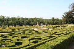 O jardim do castelo fotografia de stock