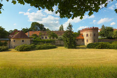 O jardim do castelo de Trebon Fotografia de Stock Royalty Free