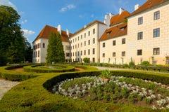 O jardim do castelo de Trebon Fotos de Stock