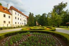 O jardim do castelo de Trebon Imagens de Stock Royalty Free