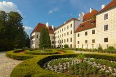 O jardim do castelo de Trebon Foto de Stock