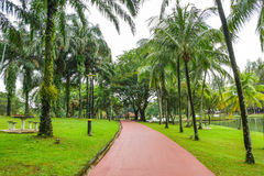 O jardim do lago Permaisuri é um do parque famoso em Cheras Foto de Stock