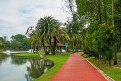 O jardim do lago Permaisuri é um do parque famoso em Cheras fotos de stock royalty free