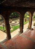 O jardim do monastério de Yuste, província de Caceres, Espanha imagens de stock