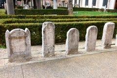 O jardim dos banhos de Diocletian Imagem de Stock Royalty Free
