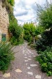 O jardim dos poetas em Morella Foto de Stock