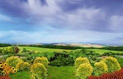 O jardim europeu fotos de stock