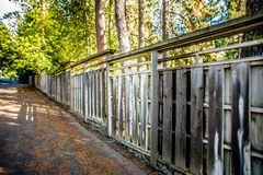 O jardim japonês bonito no parque de Manito em Spokane, lavando Foto de Stock