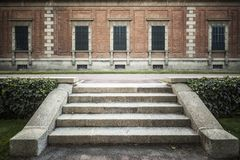 O jardim, Jardins Joan Maragall e o palácio Albeniz, estacionam montjuic, de fotos de stock royalty free