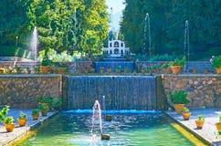 O jardim no monte delicado, Mahan, Irã imagem de stock