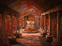 O jardim vermelho Fotos de Stock Royalty Free