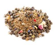 O jasmim peroliza rooibos vermelhos e verdes do chá verde Imagem de Stock
