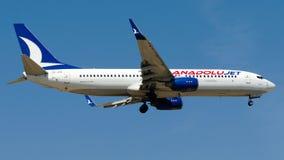 O jato de TC-JFN Anadolu, Boeing 737-800 nomeou BITLIS Fotografia de Stock Royalty Free