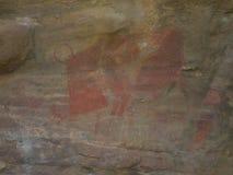 O javali africano tirado na parede Imagem de Stock Royalty Free