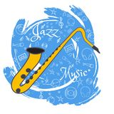 O jazz utiliza ferramentas abstraction-04 ilustração stock