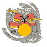O jazz utiliza ferramentas abstraction-07 ilustração do vetor