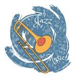 O jazz utiliza ferramentas abstraction-10 ilustração stock