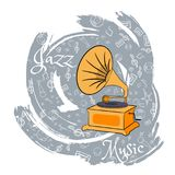 O jazz utiliza ferramentas abstraction-08 ilustração do vetor