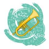 O jazz utiliza ferramentas abstraction-01 ilustração stock