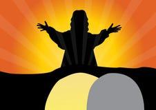 O Jesus Cristo é aumentado Fotos de Stock Royalty Free