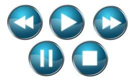 O jogador abotoa o azul Fotos de Stock