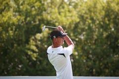 O jogador checo profissional OndÅ™ej Leiser do jogador de golfe imagens de stock royalty free