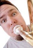 O jogador da tuba Fotografia de Stock Royalty Free