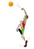 O jogador de basquetebol ilustração stock
