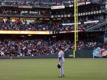 O jogador de campo adequado Carlos Beltran de Mets está na espera da parte exterior do campo Fotografia de Stock