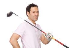 O jogador de golfe foto de stock