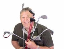 O jogador de golfe fotografia de stock royalty free