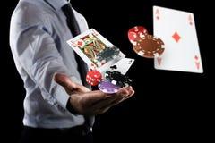 O jogador faz sua aposta foto de stock royalty free