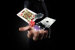 O jogador faz sua aposta imagem de stock