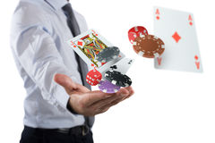 O jogador faz sua aposta fotos de stock royalty free