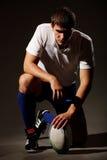 O jogador no futebol de rugby Foto de Stock