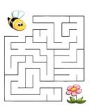 O jogo 19, a abelha alcanga a flor Fotografia de Stock Royalty Free