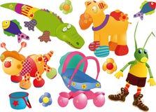 O jogo completo dos brinquedos Imagem de Stock