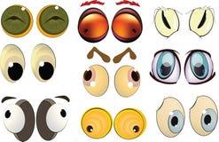 O jogo completo dos olhos desenhados Imagem de Stock