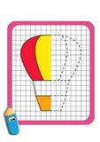 O jogo da simetria, balão de ar quente ilustração royalty free