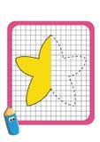 O jogo da simetria, estrela ilustração stock