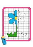O jogo da simetria, a flor ilustração royalty free