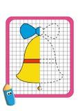 O jogo da simetria, o sino ilustração stock