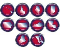 O jogo de 10 teclas do estado ajustou 2 Imagens de Stock Royalty Free