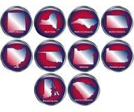 O jogo de 10 teclas do estado ajustou 4 Imagem de Stock Royalty Free